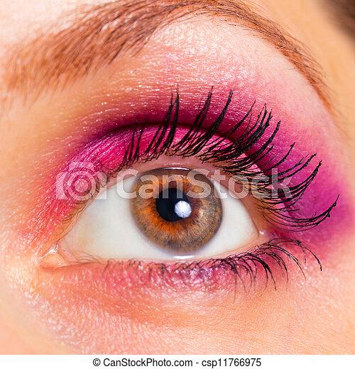 hermoso, primer plano, mujer, ojo - csp11766975