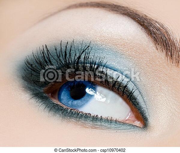 hermoso, primer plano, ojo, womanish - csp10970402