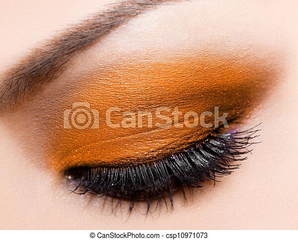 hermoso, primer plano, ojo, womanish - csp10971073