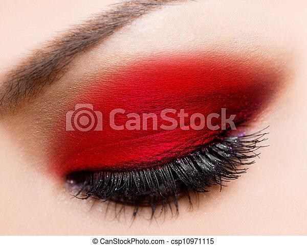 hermoso, primer plano, ojo, womanish - csp10971115