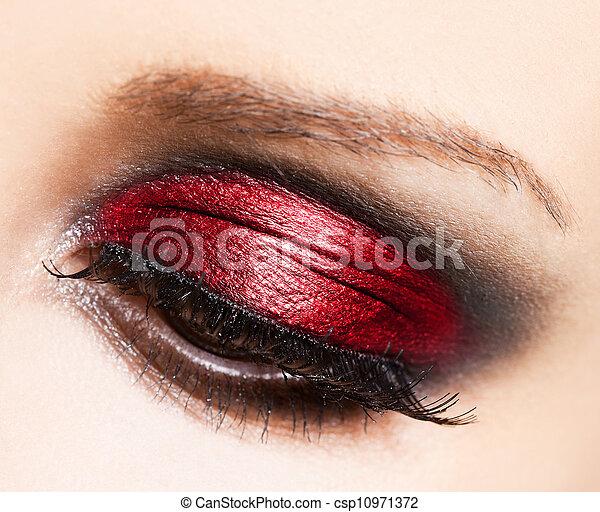 hermoso, primer plano, ojo, womanish - csp10971372