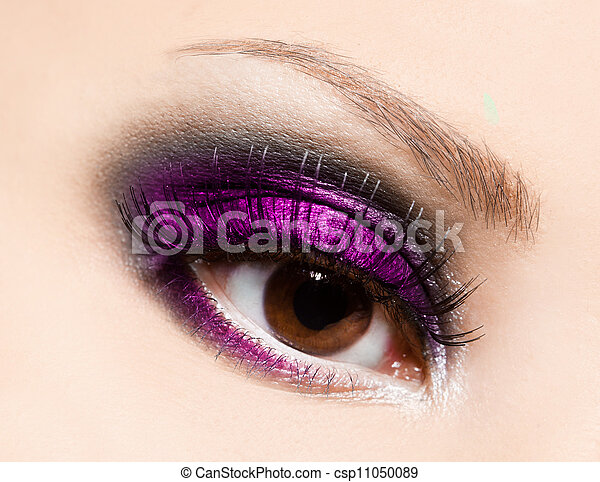 hermoso, primer plano, ojo, womanish - csp11050089