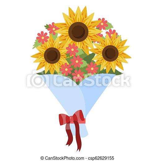 Bouquet de hermosos flujos para la celebración de cumpleaños - csp62629155