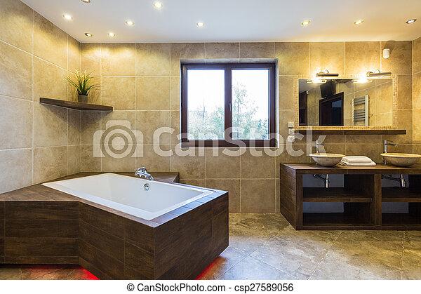 Hermoso, residencia, cuarto de baño, lujo. Hermoso, residencia ...