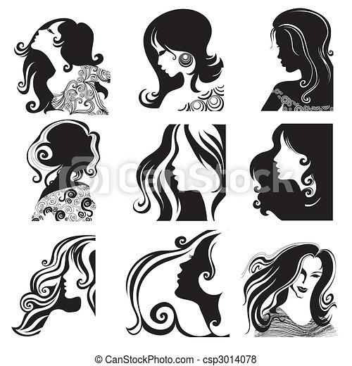 Retratos de bella mujer - csp3014078