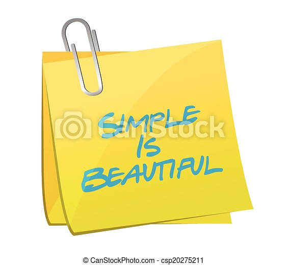 Simple es hermosa ilustración de mensajes postales - csp20275211