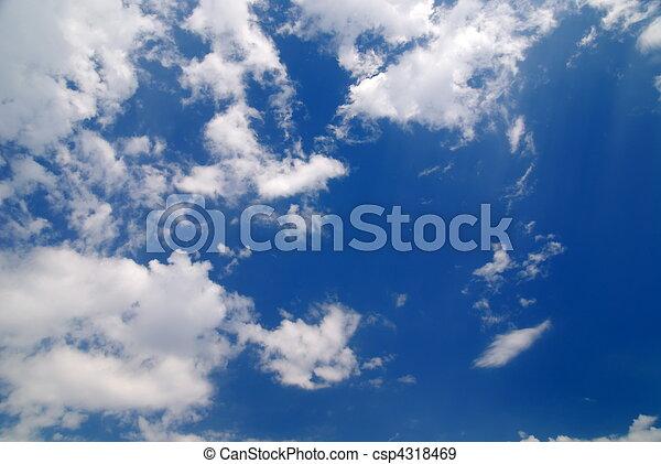 hermoso, tiempo, cielo - csp4318469