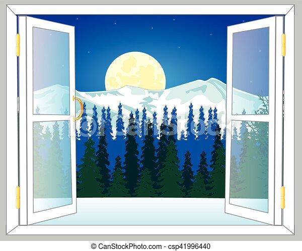 Hermosa vista desde la ventana - csp41996440