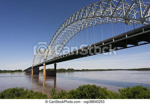 Hernando de Soto Bridge Spanning Mississippi River Arkansas Tennessee - csp38640253