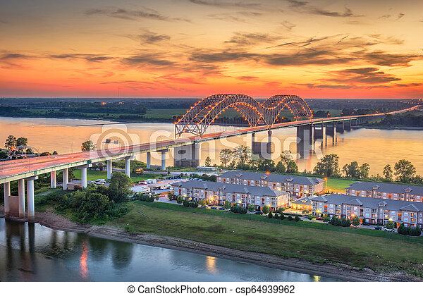 Hernando de Soto Bridge. - csp64939962