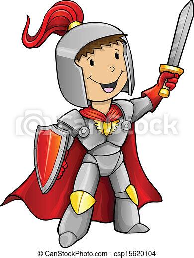 Hero Knight Vector  - csp15620104
