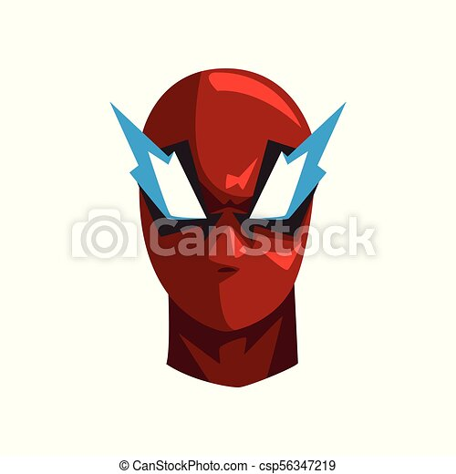 Hero mask vector Illustration on a white background - csp56347219