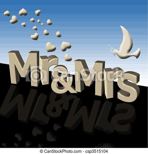Mr. und Mrs. Vektor - csp3515104