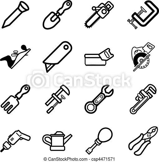 iconos de herramientas - csp4471571
