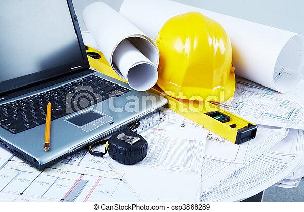 herramientas, arquitectónico - csp3868289