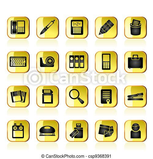 Herramientas iconos de la oficina conjunto iconos de la for Herramientas de oficina