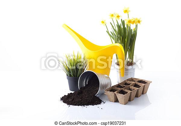 Herramientas de jardín - csp19037231
