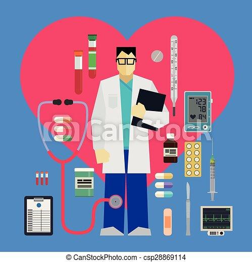 Clip art vectorial de herramientas mdicas doctor  Doctor y