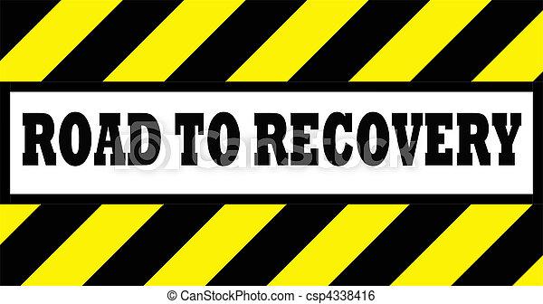 herstel, wegaanduiding - csp4338416