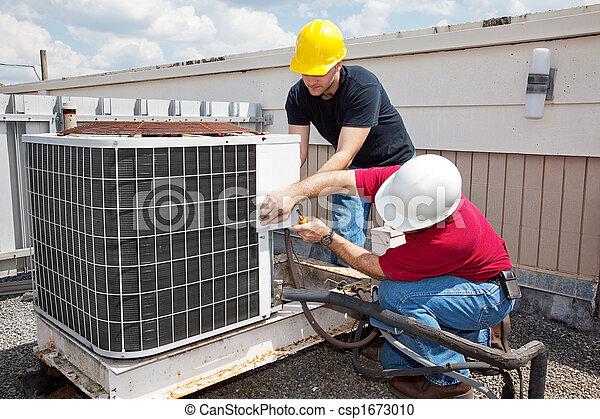 herstelling, industriebedrijven, het conditioneren, lucht - csp1673010