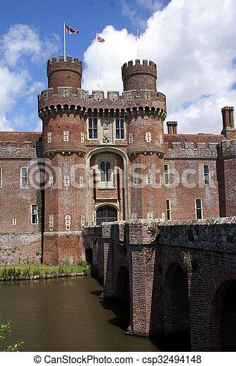 herstmonceux, αγγλία , κάστρο  - csp32494148
