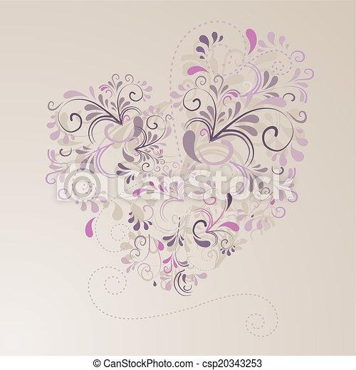 Herz aus Ornamenten - csp20343253