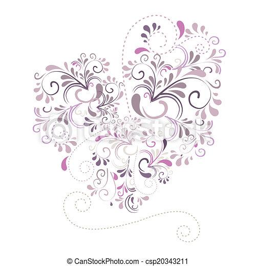 Herz aus Ornamenten - csp20343211