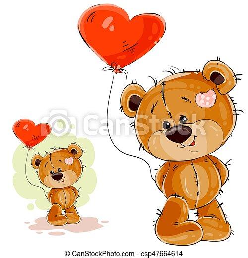 herz brauner teddy balloon pfote abbildung form vektor b r besitz ihr rotes brauner. Black Bedroom Furniture Sets. Home Design Ideas
