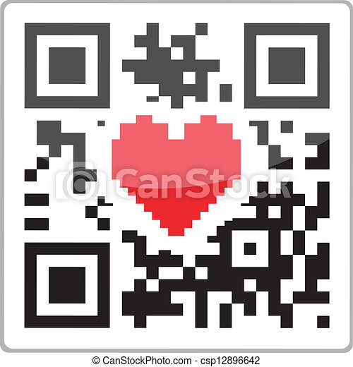 herz, code, qr - csp12896642