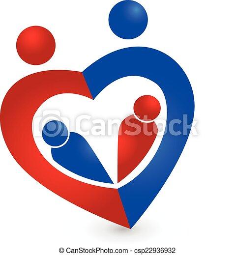 Herz, familie, symbol, form, design, schablone, logo.