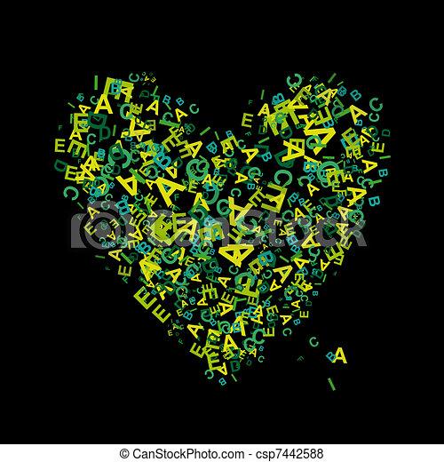 Herz Form Briefe Dein Design