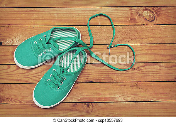 Awesome Herz, Gemacht, Schuhe, Hölzerne Spitze, Floor., Form, Spitzen,