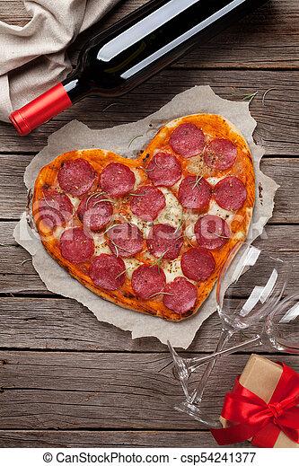 herz hat gestaltet, pizza - csp54241377
