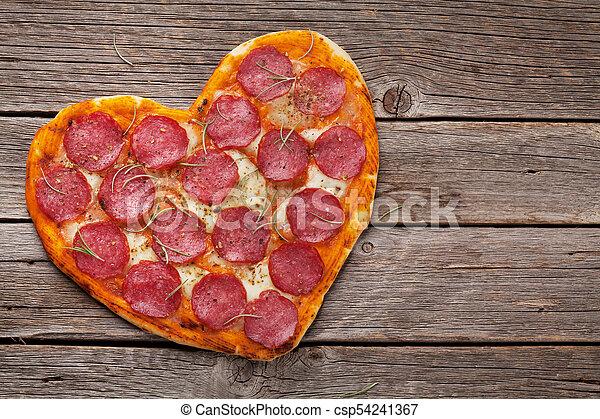 herz hat gestaltet, pizza - csp54241367