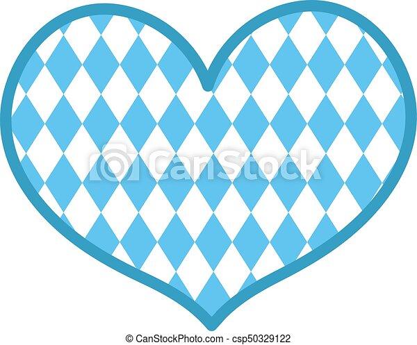 Herz Illustration Wohnung Freigestellt Hintergrund Form Vektor Weißes Oktoberfest Style Ikone