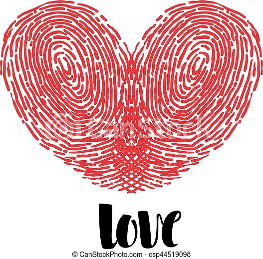 Herz Liebe Fingerabdruck Herz Liebe Gemalt Fingerabdrucke