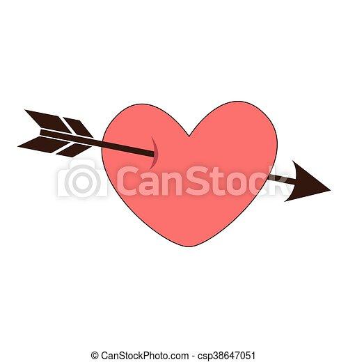 Einfaches Herz Symbol Fur Liebe, Emotionen - Vektor-Symbol. Dies ...