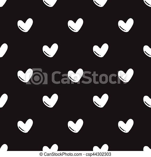 herz muster seamless hand form schwarz gezeichnet herz muster seamless hand form. Black Bedroom Furniture Sets. Home Design Ideas