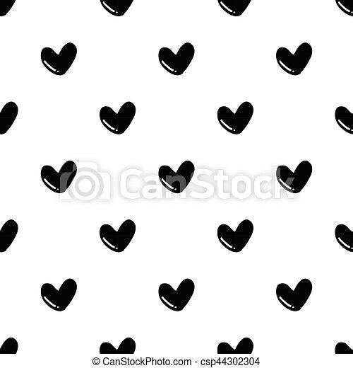 herz muster seamless hand form gezeichnet wei es herz muster seamless hand form. Black Bedroom Furniture Sets. Home Design Ideas