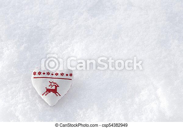 Herz, nähen, stich, winter, hirsch, kreuz, skandinavisch, snow ...