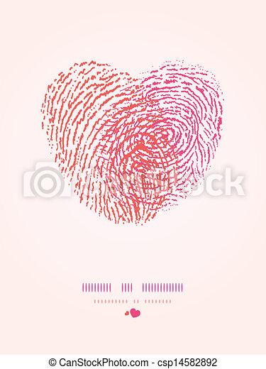 Herz Romantische Hintergrund Fingerabdruck Herz Romantische