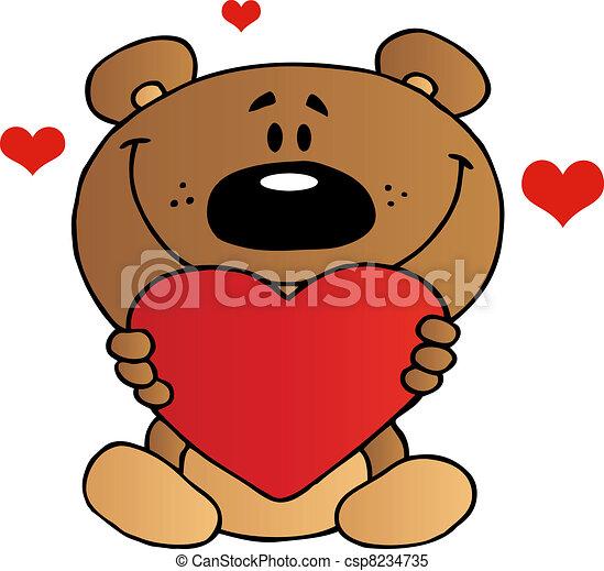 herz rotes besitz b r teddy herz teddy zeichen b r besitz karikatur rotes. Black Bedroom Furniture Sets. Home Design Ideas