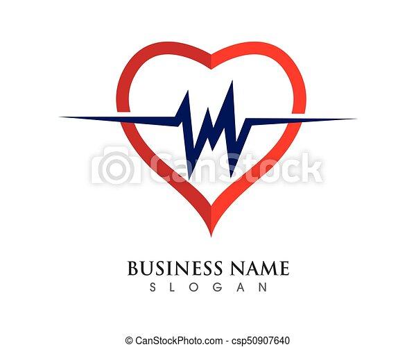 Herz, schablone, logo. Herz, vektor, schablone, abbildung,... EPS ...