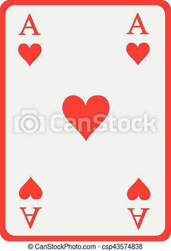 Herz Spielen Karte As