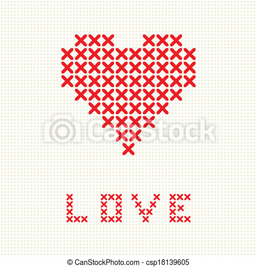 Sehr Valentinskarte mit stickerherz. KD24