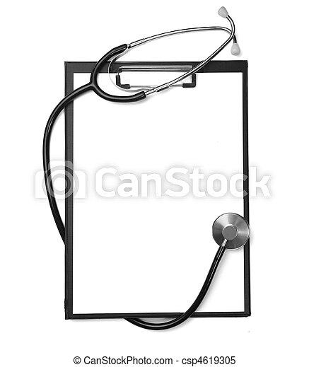 herz, werkzeug, gesundheit, medizinprodukt, stethoskop, sorgfalt - csp4619305