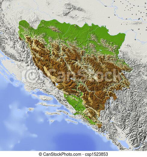 Karta Bosnien Och Hercegovina.Herzegovina Karta Skuggat Lattnad Bosnien Urban Major