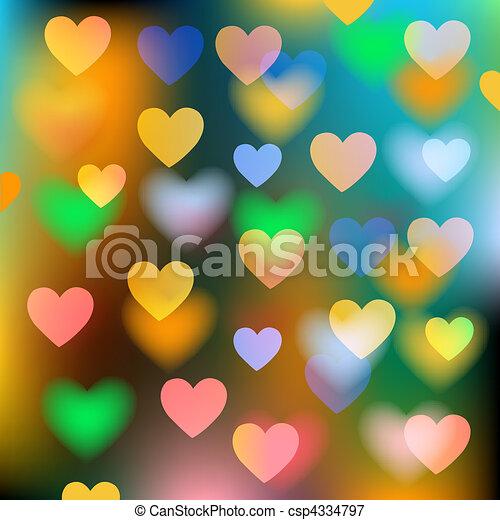 Vektorhintergrund mit Herzen abstrakt - csp4334797