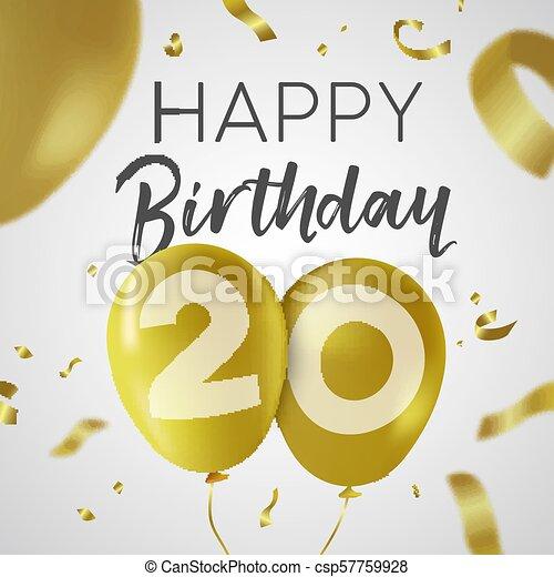 Glückwunsch 20 herzlichen zum Herzlichen Glückwunsch