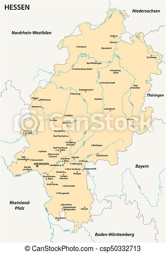 Hesse state vector map in german language.